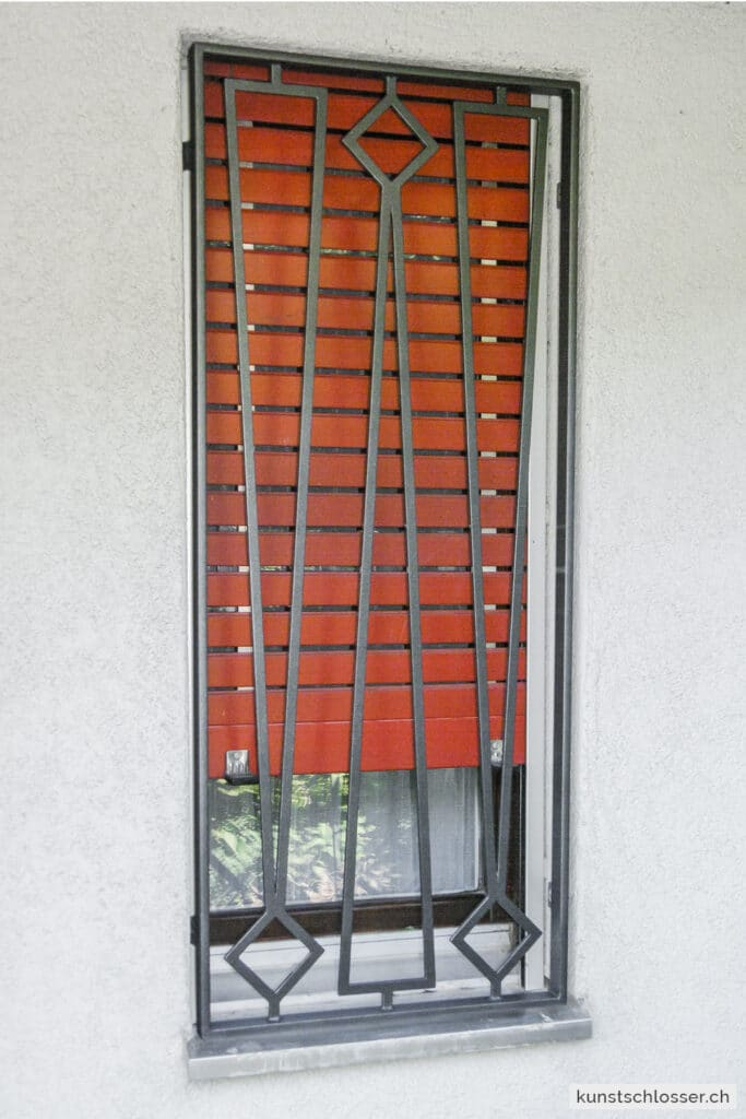Modernes Fenstergitter